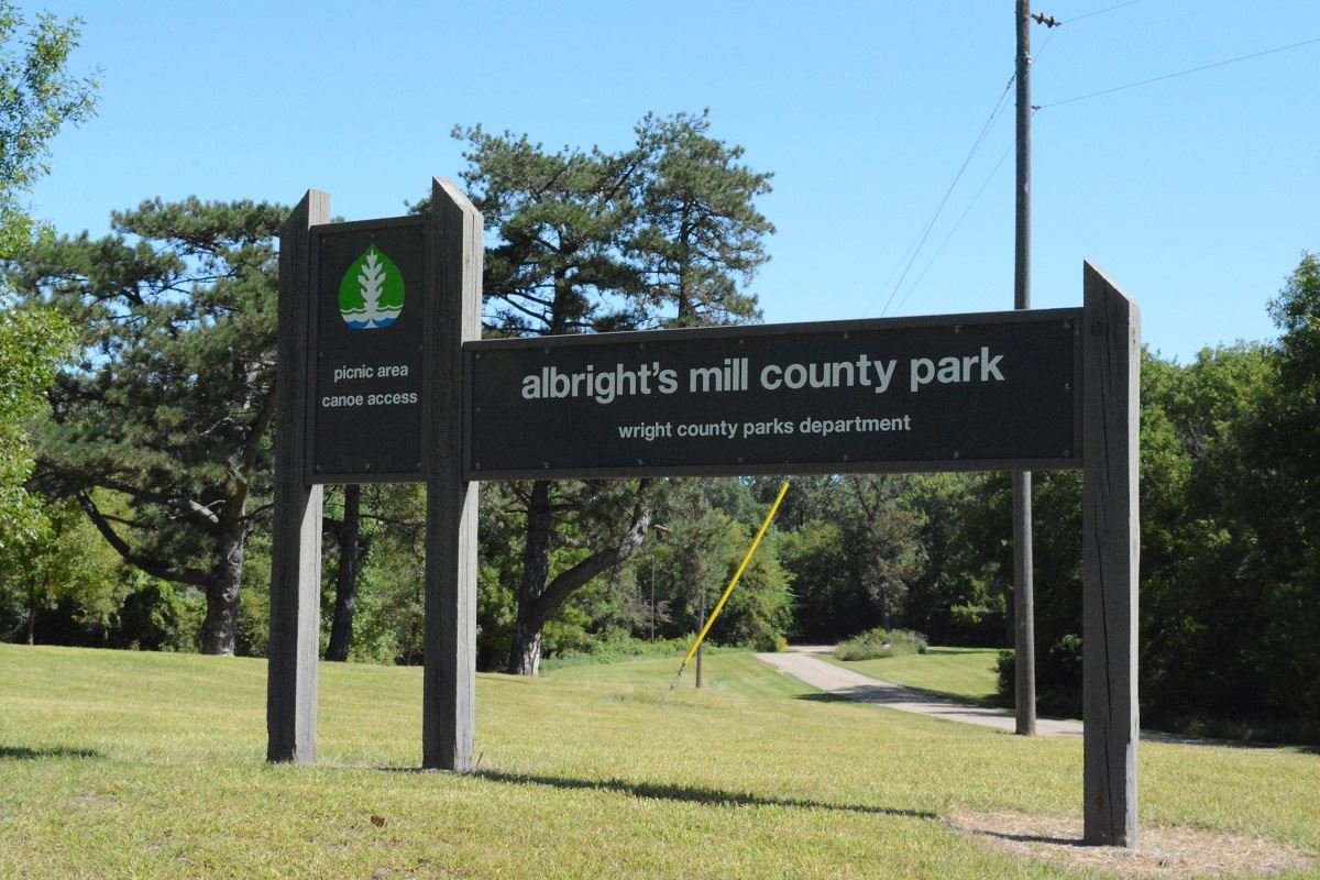 Albrights Mill sign