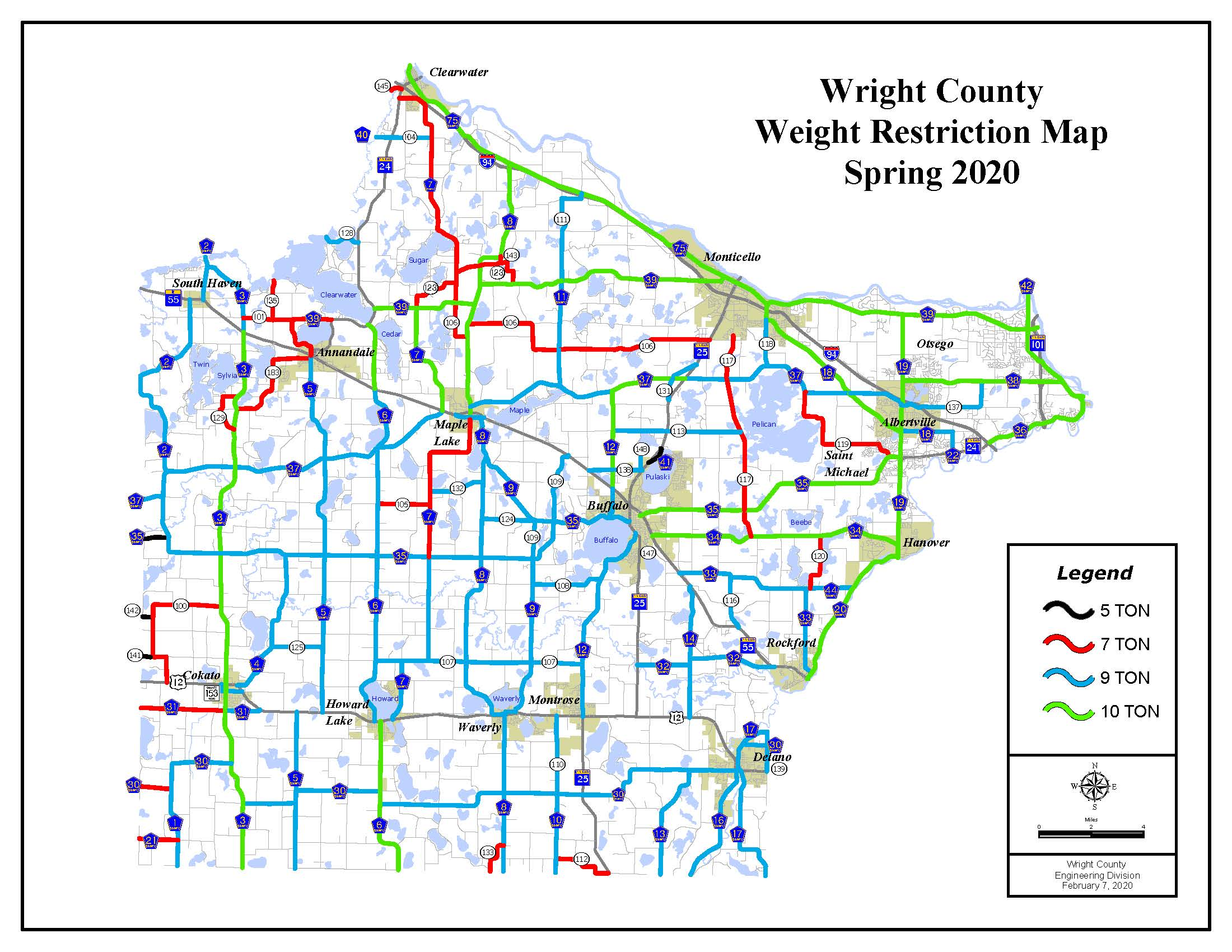 2020 Weight Restrictions Map Opens in new window